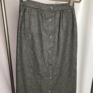 Vintage Patty Woodard Wool Skirt Size 2